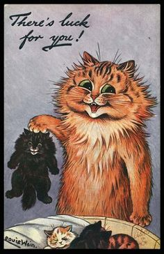 Louis Wain: There's luck for you!