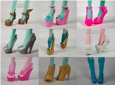 Free Shipping,10pairs Different Doll Shoes Fashion Original Monster High Dolls Cool Shoes Good Quality-in Dolls Accessories from Toys & Hobb...