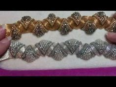 Interlace Bracelet with a little designing on the fly!!! A Bronzepony Beaded Jewelry Design - YouTube #designerjewelry