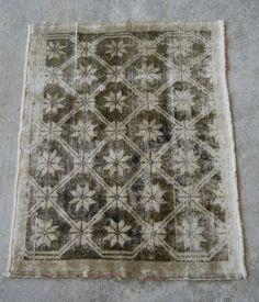 Vintage Anatolian Carpet Distressed Turkish Rug