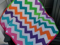 Baby Quilt  Crib Quilt  Chevron Quilt  Homemade by Nanasewingroom
