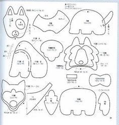 molde cachorro pelucia - Pesquisa Google