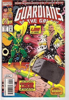 Guardians Of The Galaxy #41 Oct 1993 Marvel Comic Book Loki Mighty Thor Inhumans