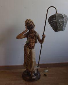 Lámpara Figura De Escayola Policromada Años 70/ 70'S Polychromatic Plaster Figure Lamp de lahaciendavintage en Etsy
