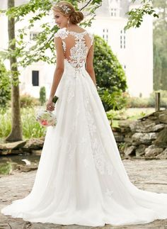 Wedding Dresses Lace Modest 6391 Romantic Lace Plus Size Wedding Dress with Cameo Back by Stella York.Wedding Dresses Lace Modest 6391 Romantic Lace Plus Size Wedding Dress with Cameo Back by Stella York Wedding Dresses 2018, Princess Wedding Dresses, Designer Wedding Dresses, Bridal Dresses, Bridesmaid Dresses, Tulle Wedding, Dress Wedding, How To Bustle A Wedding Dress, Wedding Dresses Stella York
