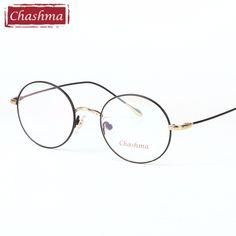 47e8cea0873 Chashma Brand 2017 Trend Vintage Eyewear Women Men Round Optical Glasses  Frame Clear Lenses for Prescription