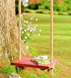 garden swing - reminds me of childhood fond memories!