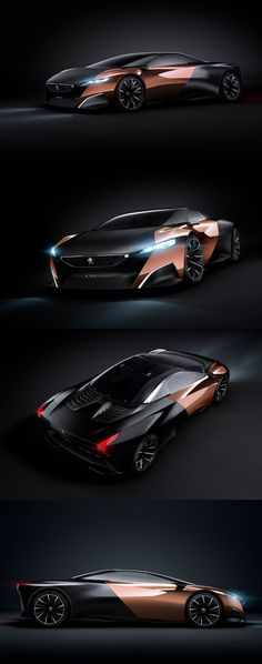 ♂ black & copper concept car Peugeot ONYX - Sportive, hybride and futuriste from http://www.zeutch.com/design/peugeot-onyx-41113