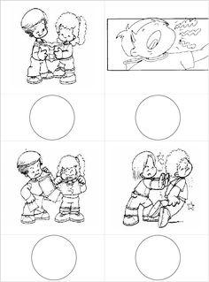 Emotionen - Arbeitsmaterial - Elegir Accion Buena - Mala Tracing Worksheets, Kindergarten Worksheets, Early Education, Kids Education, Coping Skills, Social Skills, Croatian Language, Friendship Activities, Story Sequencing