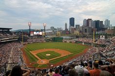 PNC Park, home of the Pirates.  Pittsburgh, Pennsylvania.