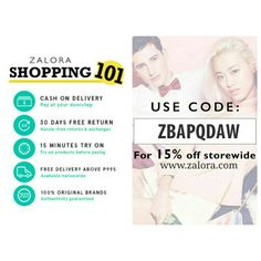 In need of retail therapy? Shop now at www.zalora.com Free delivery, free return and Cash on delivery     Be spoilt for choice with the gamut of collections we bring – shoes, clothes and beauty products from, regional and international.