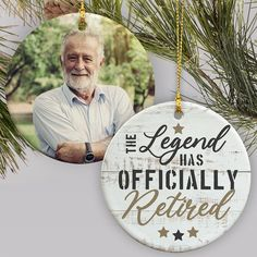 Celebrate the retiree's new chapter of life with a fun ornament personalized with your favorite photo of the retiree #retirementgiftideas #personalizedchristmasgifts #christmasgiftideas Personalized Ornaments, Personalized Christmas Ornaments, Christmas Tree Ornaments, Merry Christmas, Christmas Garden Flag, Word Art Design, Photo Ornaments, Retirement Gifts, Holiday Decor
