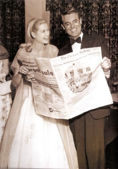 Grace Kelly and Cary Grant  Premiere of To Catch a Thief