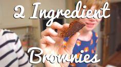 Gluten-Free Two Ingredient Nutella Brownies - Crumbs