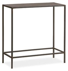A Room & Board classic, the Slim end table offers a balance of grace and strength. Natural steel gives weight to a delicate handcrafted design that features subtle weld marks unique to each piece.