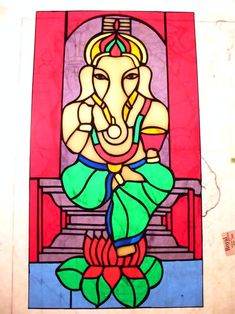 Ganesha Standing On A Lotus Bloom - from Delphi Artist Gallery