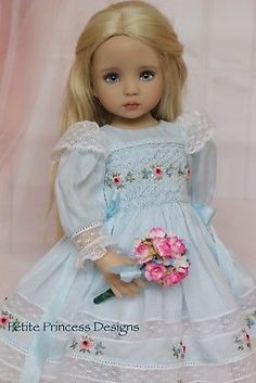 "OOAK Smocked Ensemble for Effner 13"" Little Darling Doll-Petite Princess Designs"