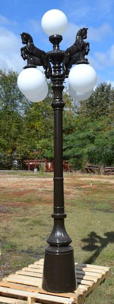 funky outdoor lighting. Horse Street Lamp With Dark Bronze Finish Funky Outdoor Lighting