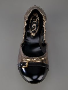 #Tods Gold Buckle Ballerina #love #comfortable #shoes