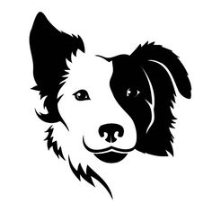 border collie wall tattoo  #silhouette #digistamp #dog #pet #cute