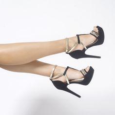 Style - Heels - Sandália - Fashion - Ref. 16-17902