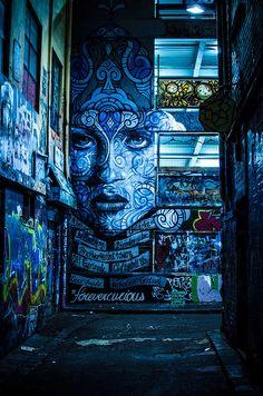 Mesmerizing street art in #Melbourne, #Australia. #forevercurious