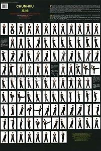 Wing-Chun-Kung-Fu-Exercise-Wall-Maps-Wing-Tsun-Wooden-Dummy-Forms-Posters-set