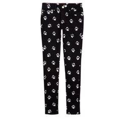 Kate Spade New York Black Paw Print Broome St Denim Jeans