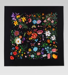 Gucci silk scarf great flower inspiration