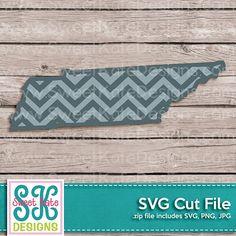 Tennessee with Chevron Pattern SVG