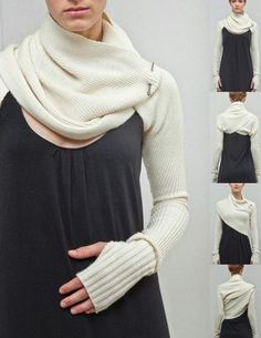scarf wrap or bolero with sleeves