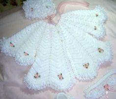 VERA AND MANUALIDADES-Veraxangai: cardigan baby- RIPPLE POINT OR zig-zag EXTENT CROCHE