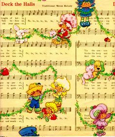 Vintage Strawberry Shortcake wrapping paper