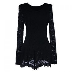 Elegant Ruffle Lace Splicing Long Sleeve Blouse For Women