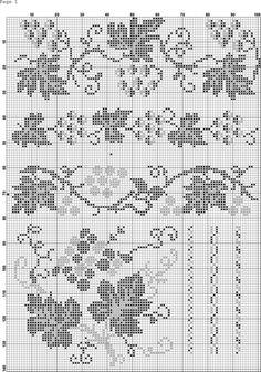 Gallery.ru / Фото #83 - 5 - Auroraten Cross Stitch Borders, Cross Stitch Rose, Cross Stitch Designs, Cross Stitch Embroidery, Embroidery Patterns, Cross Stitch Patterns, Crochet Patterns, Filet Crochet Charts, Crochet Diagram