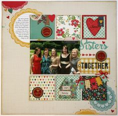 #Papercraft #Scrapbook #Layout. Snippets By Mendi: Technique Tuesday Layout with June's Memory Keepers Studio