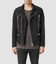 ALL SAINTS Imara suede biker jacket