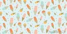 Happy little ice cream cones.  Elizabeth Owlen: Summer Lovin'