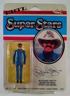 Ertl Super Stars Diecast Richard Petty Action Figure MOC Stock Nascar Racing  #Ertl