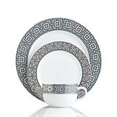 Jonathan Adler Dinnerware, Nixon Gray Collection  nice everyday dinnerware..mix-able with black white and possibly one single accent color.  also like the greek key line   Macy's