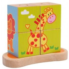 "Drevené kocky ""Zvieratká"" Disney Jokes, Toy Chest, Storage Chest, Bookends, Planter Pots, Christmas, Home Decor, Games, Promotional Giveaways"