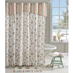 This Tommy Bahama 39 Bonny Cove 39 Shower Curtain Is Made Of 100 Percent Cotton And Features A
