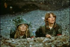 """""""Private Benjamin"""" movie still, 1980.  L to R: Goldie Hawn, Mary Kay Place."""