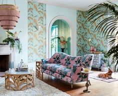 Anthro's New Collection Will Turn Your Home Into a Parisian Pied-à-Terre Bohemian Wall Decor, Wall Art Decor, U Shaped Sectional, Interior Design Tips, Decoration, Sweet Home, New Homes, Lounge, Living Room