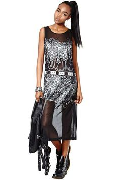 Nasty Gal Collection Chaos Theory Mesh Maxi Dress