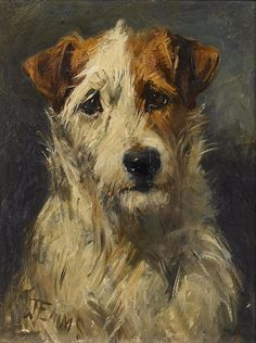 Seeking superior fine art prints of Fox Terrier by John Emms? Customize the size, media & framing for your style. Animal Paintings, Animal Drawings, Art Drawings, Parsons Terrier, Smooth Fox Terriers, The Fox And The Hound, Dog Portraits, Illustrations, Dog Art