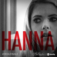 SHARE this photo if you think Hanna will die on Tuesday's #PLL #FatalFinale! Find out Tuesday at 8/7c on ABC Family!