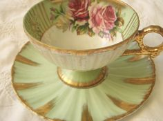 Royal Sealy Footed Teacup-Lusterware, Mint. .