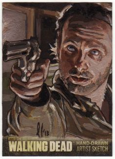 CRYPTOZOIC THE WALKING DEAD SEASON 3 SKETCH CARD RICK GRIMES AP LEE LIGHTFOOT