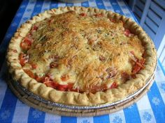 TOMATO PIE: what to do with the fresh tomatoes.maybe add some sausage. From: Southern Lady Cooks. Empanadas, Great Recipes, Favorite Recipes, Summer Recipes, Brunch, Good Food, Yummy Food, Fun Food, Southern Recipes
